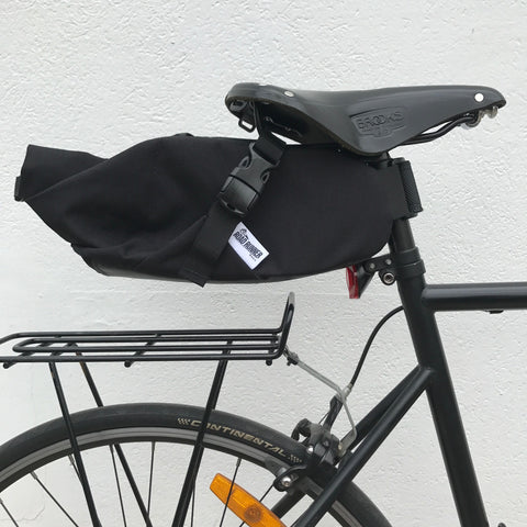 ROAD RUNNER - Fred Bikepacking Saddle Bag - Black Cordura