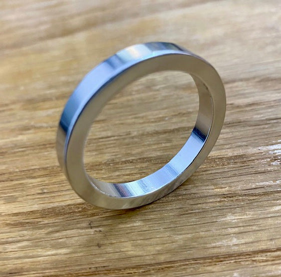 HEADSET SPACER - 1 1/8 x 5mm - Silver