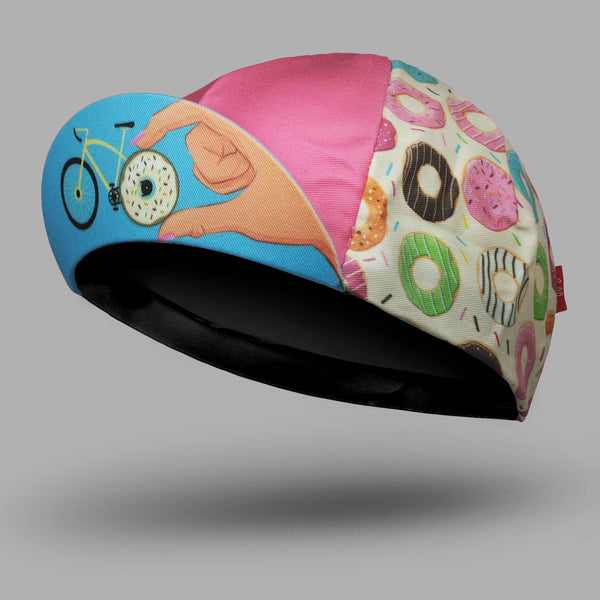 BELLO Cycling Cap - Donut Mess With My Ride-Time - Colourful