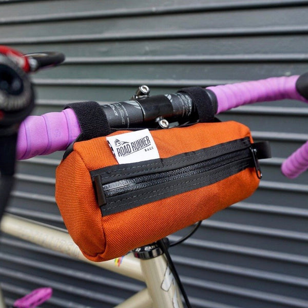 ROAD RUNNER - Burrito Handlebar Bag - Rust Cordura