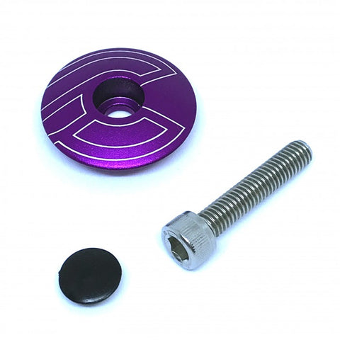 CINELLI - Top Cap with Bolt & Plug - Purple