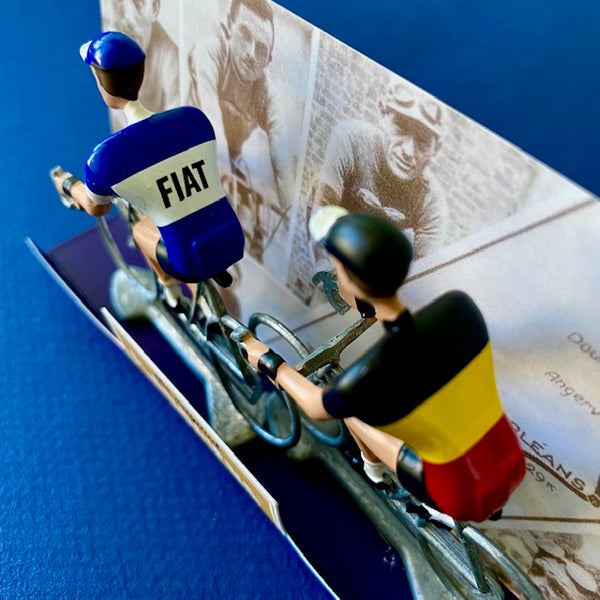 FLANDRIENS Hand Painted Metal Cyclists - Fiat Jerseys