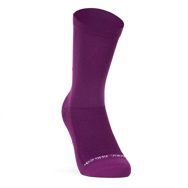 PACIFIC AND CO Cycling Socks - Good Vibes - Aubergine