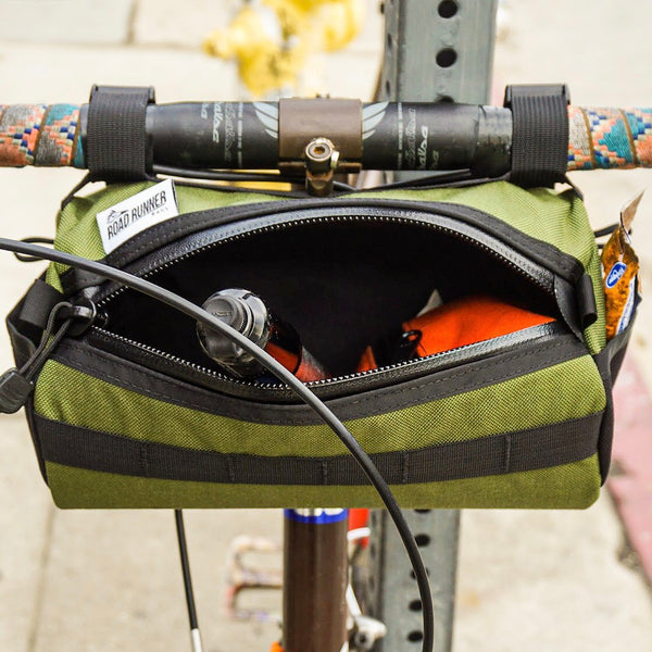 ROAD RUNNER - California Burrito Handlebar Bag - Black Cordura
