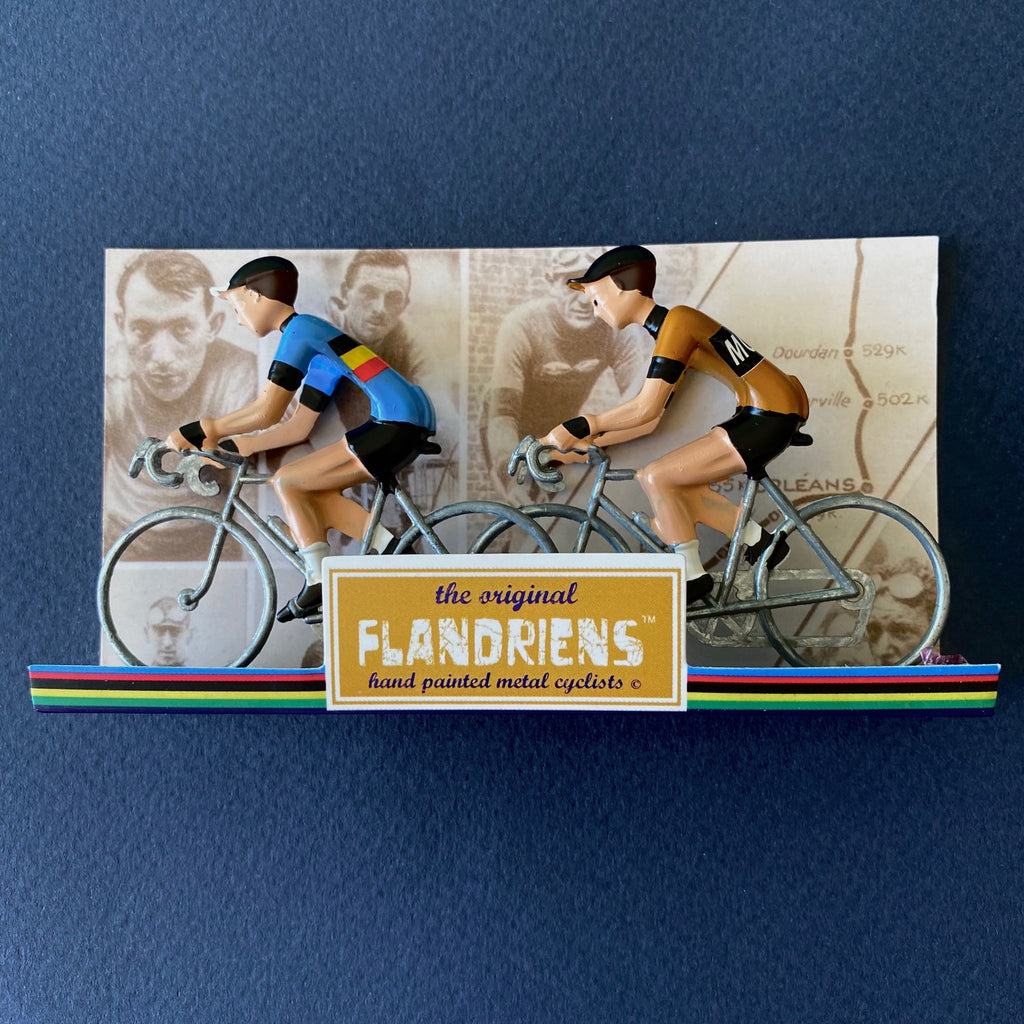 FLANDRIENS - Hand Painted Metal Cyclists - Molteni Jerseys