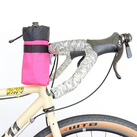 ROAD RUNNER - Co-Pilot Handlebar Bag - Highlighter Pink Cordura
