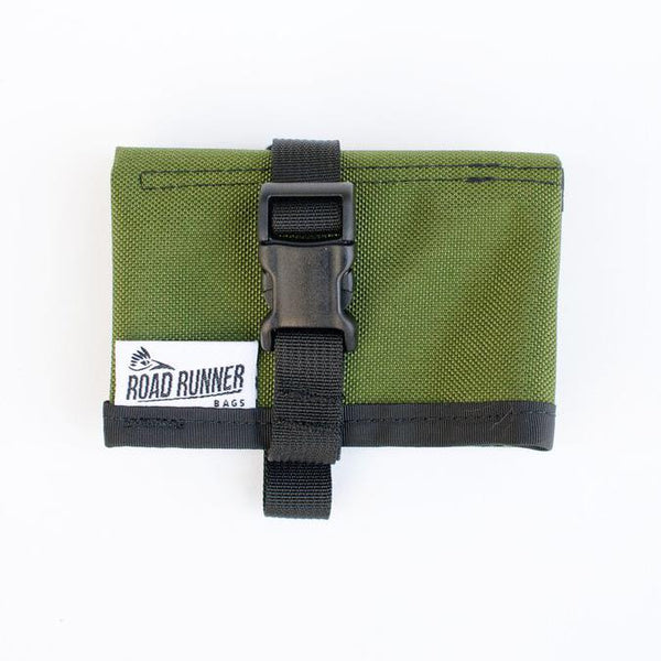 ROAD RUNNER Tool Saddle Roll - Olive Cordura
