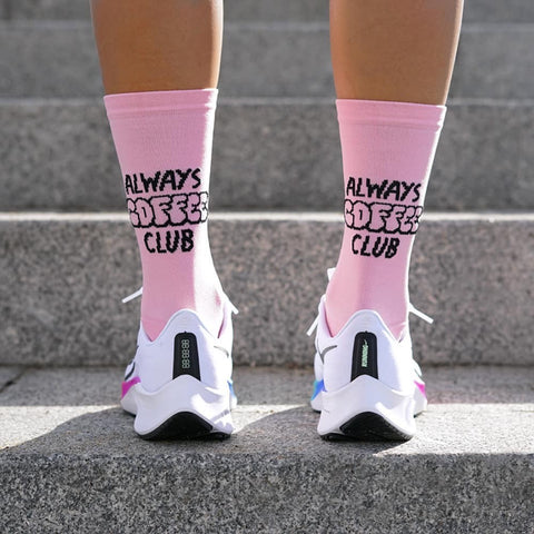 PACIFIC AND CO Performance Cycling Socks - Coffee Club