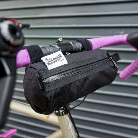ROAD RUNNER - Burrito Handlebar Bag - Black Cordura