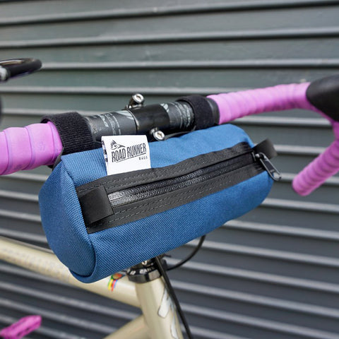 ROAD RUNNER - Burrito Handlebar Bag - Navy Cordura