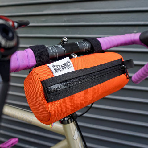 ROAD RUNNER - Burrito Handlebar Bag - Orange Cordura