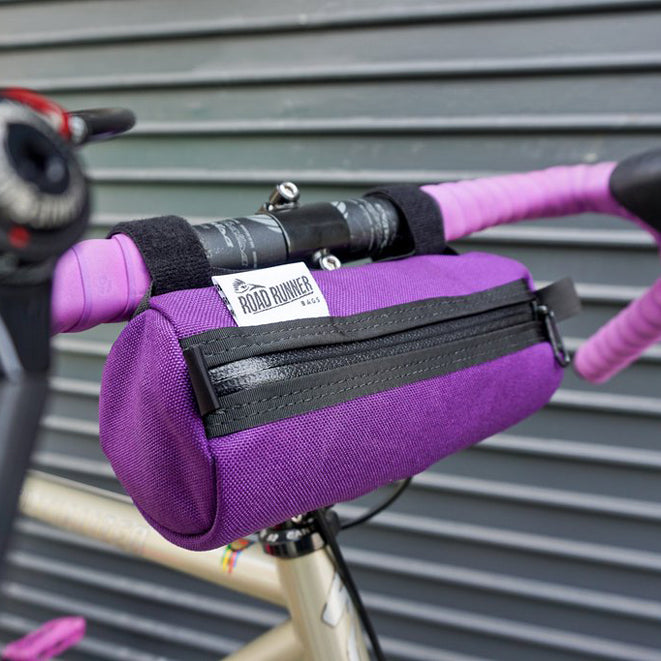 ROAD RUNNER - Burrito Handlebar Bag - Purple Cordura