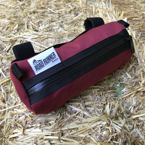 ROAD RUNNER - Burrito Handlebar Bag - Burgundy Cordura