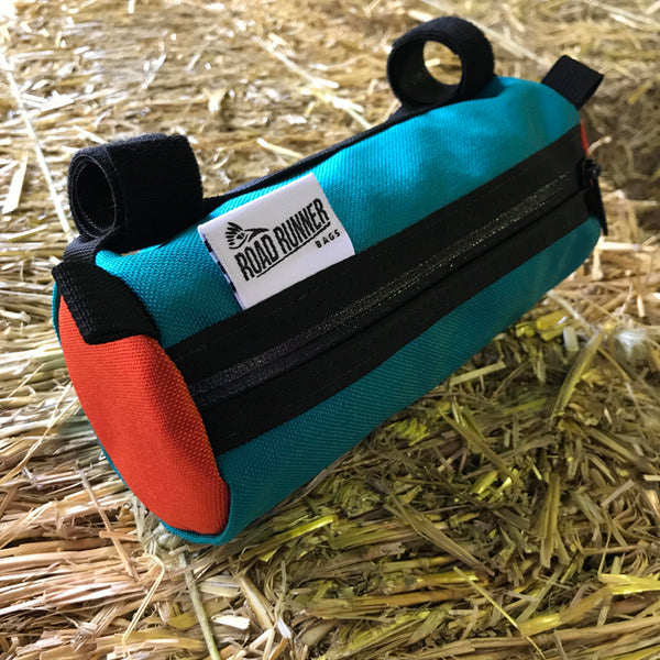 ROAD RUNNER - Burrito Handlebar Bag - Teal/Orange Cordura AUSTRALIA
