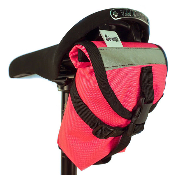 ROAD RUNNER - The Drafter Saddle Bag - Pink Cordura