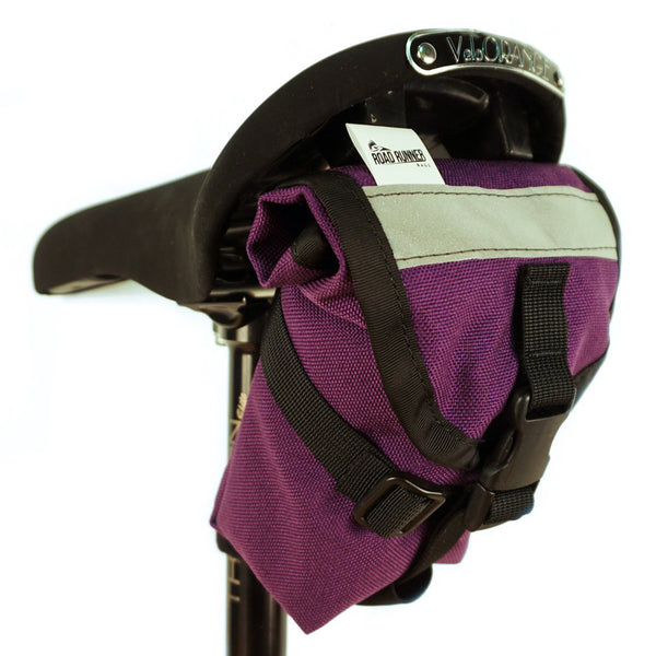 ROAD RUNNER - The Drafter Saddle Bag - Purple Cordura