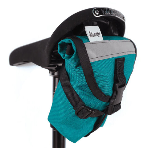 ROAD RUNNER - The Drafter Saddle Bag - Teal Cordura