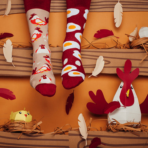 MANY MORNINGS Socks - Egg and Chicken