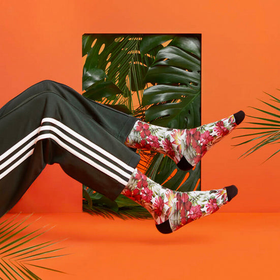 PACIFIC AND CO Cycling Socks - Palm Tree pacifandco AUSTRALIA