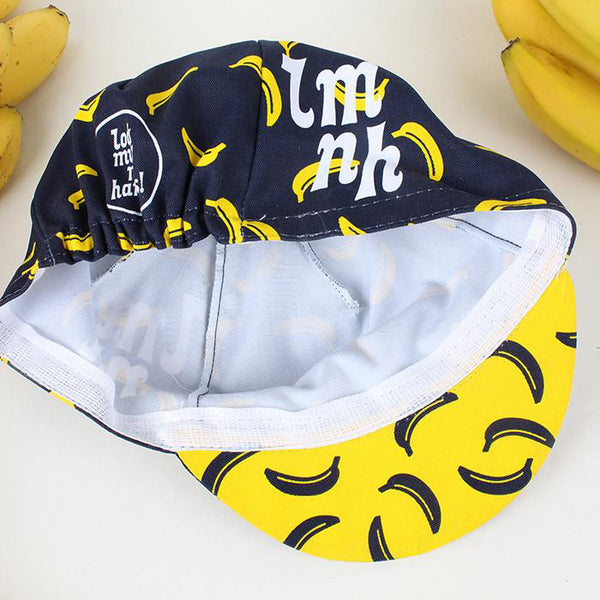 LOOK MUM NO HANDS - Cycling Cap - Banana AUSTRALIA