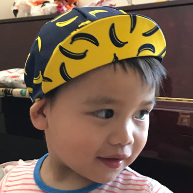 LOOK MUM NO HANDS - Children's Cycling Cap - Banana