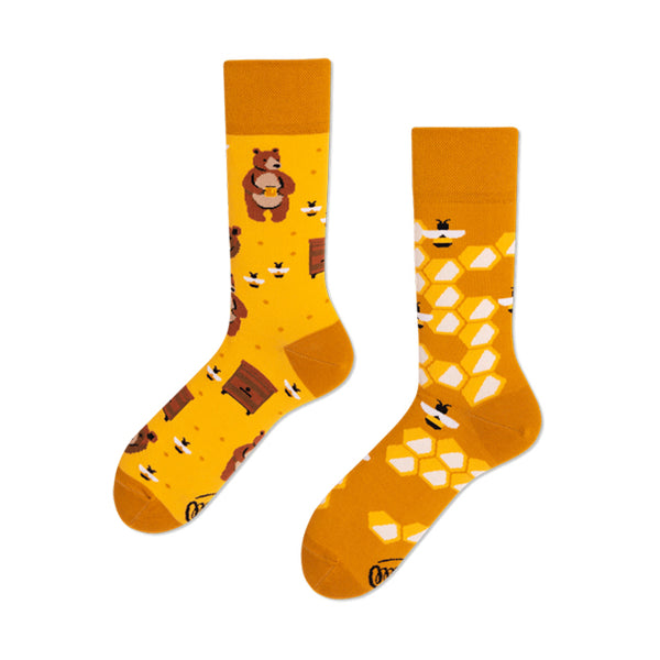MANY MORNINGS Socks - Honey Bear