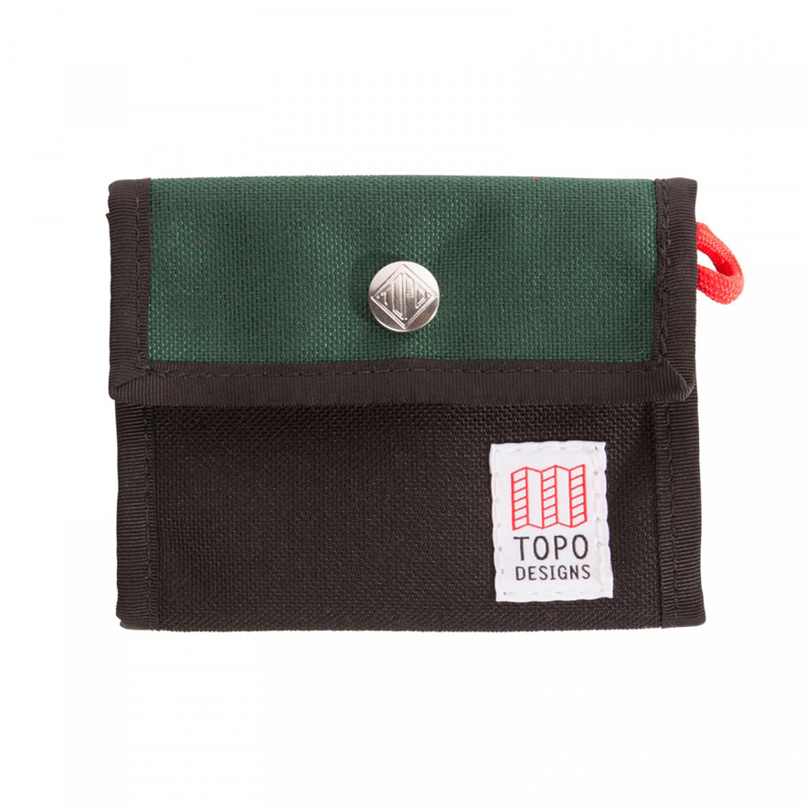 TOPO DESIGNS - Snap Wallet - Forest/Black Cordura