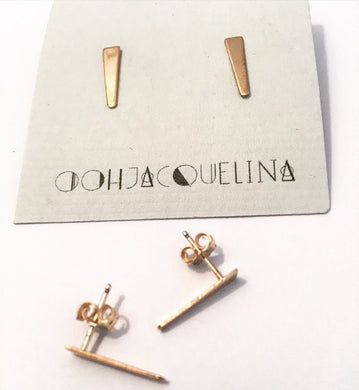 Bar Stud Spike Earrings in 14K gold fill or Sterling Silver