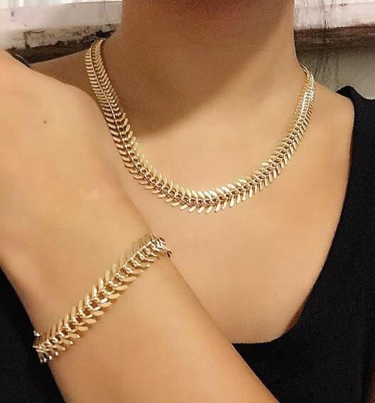 Zipper Necklace in Silver or Gold
