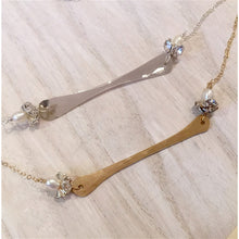 Lotus Flower Bar Necklace