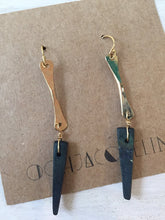 Black Wooden Spike Earrings