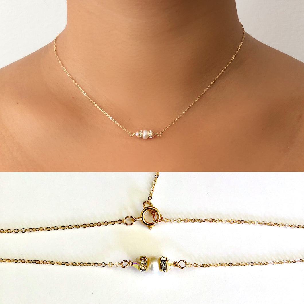 Lindsay Pearl Choker Necklace