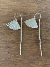 Fan shell threaders in 14k Gold fill or sterling silver