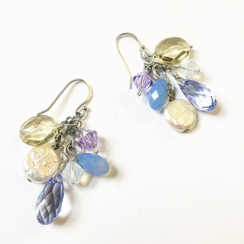 Orchid Earrings, purple earrings