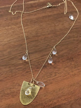 Alison of Arabia Long gold Necklace with Swarovski