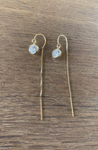 Simple CZ thread Earrings