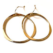 Simple Hoop Earrings in Sterling silver or 14k gold filled, Hammered Hoops