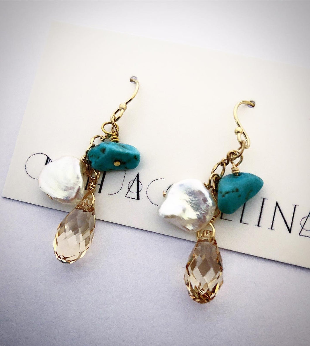 Turquoise Shimmer Earrings