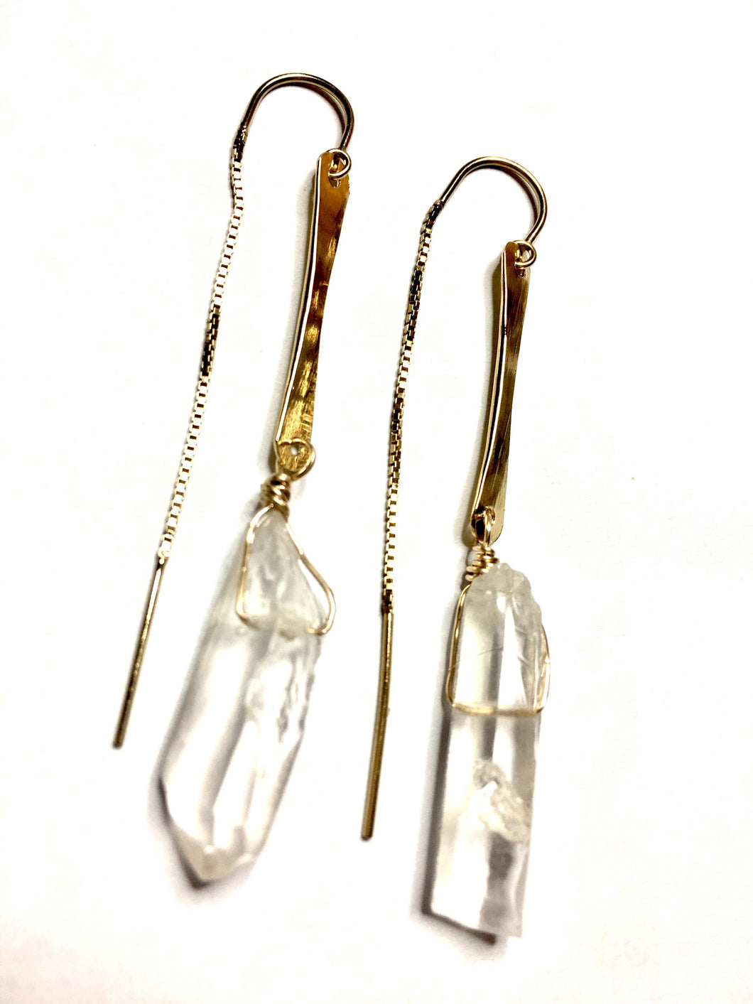 Quartz Crystal Thread Earrings
