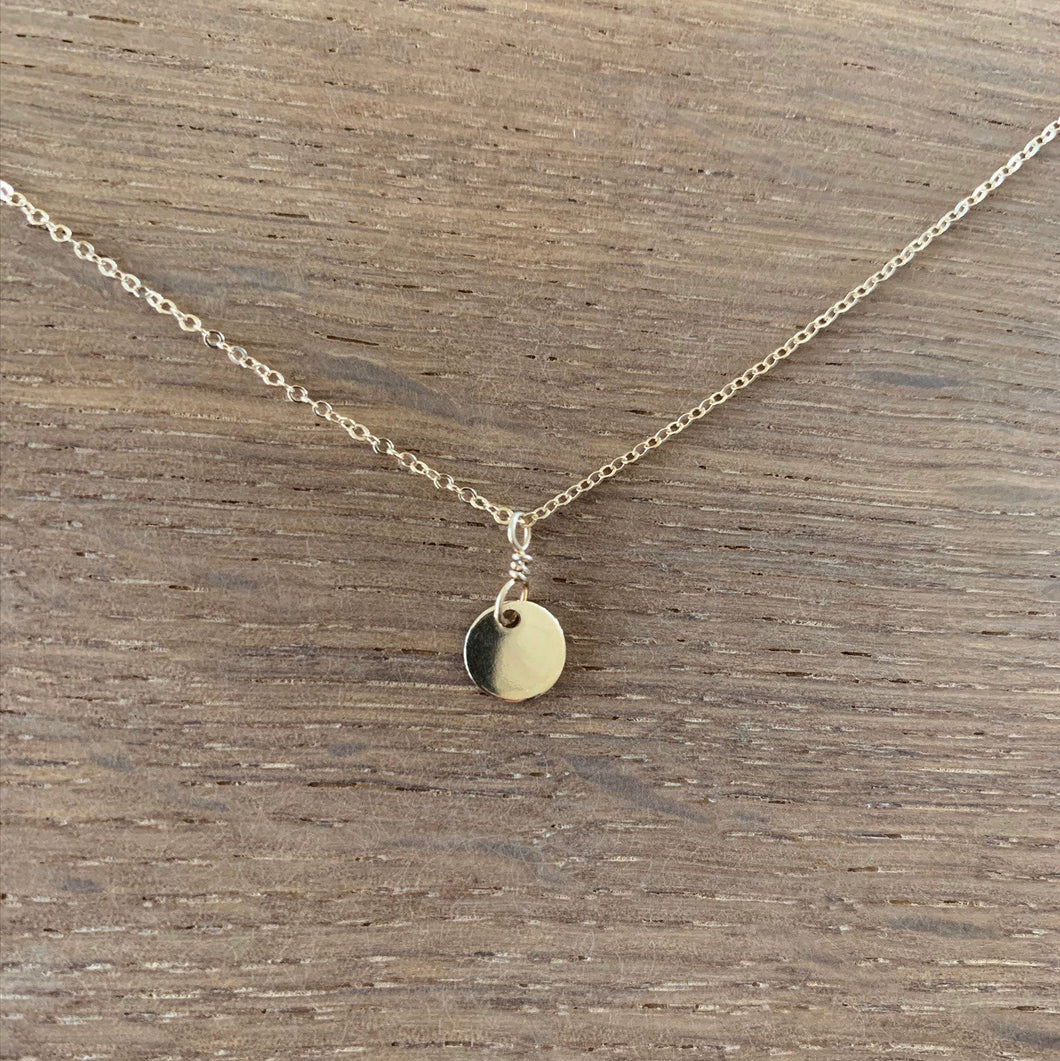 Circle Disc Charm Necklace