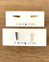 Bar Stud Spike Earrings in 14K gold fill or Sterling Silver, hypoallergenic jewelry