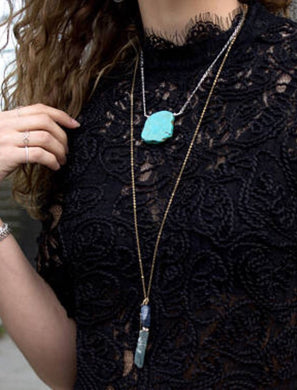 Courtney Turquoise Pendant Necklace