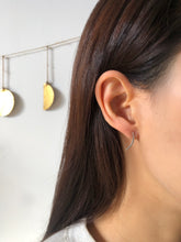 Simple Ear Climber earrings, crescent moon earrings, studs in Gold or Silver, hypoallergenic jewelry