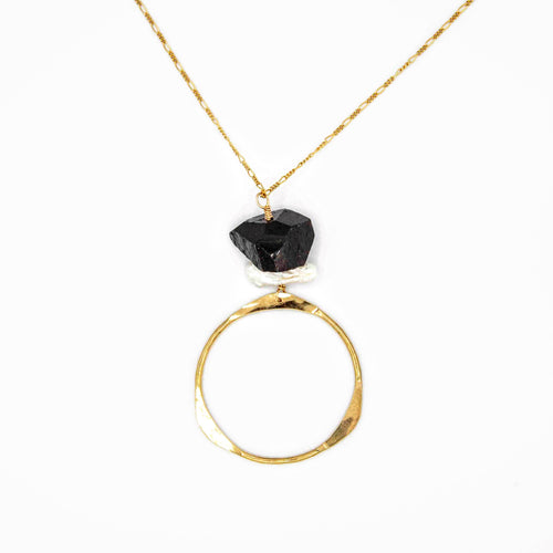 Circle of Life Black Tourmaline Necklace