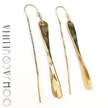 Pillar Thread Earrings in Silver or Gold