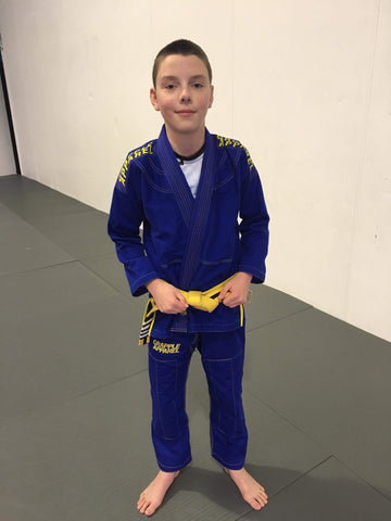 PRE ORDER - Kids BJJ Blue and Yellow Comp Gi (Free White Belt Included)