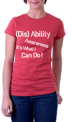 Red Tshirt-(Dis)Ability Awareness Its What I can Do!