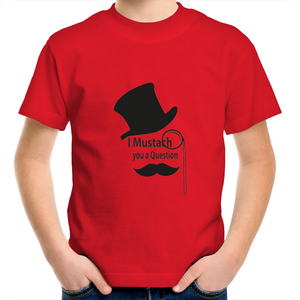 Kids Youth T-Shirt- I mustach you a question