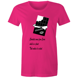 Womens T-shirt-  Chocolate Salad