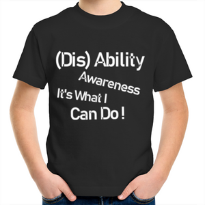 Kids Youth T-Shirt- (Dis)  Ability Awareness It's what I can do